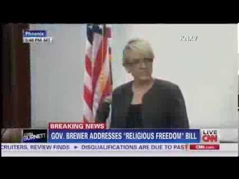 Arizona Gov Jan Brewer Vetos Controversial Anti Gay Bill SB1062