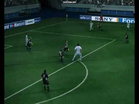 Pes 2010 | FC Zenit - FC Besiktash | Fernando Meira overhead Goal Video