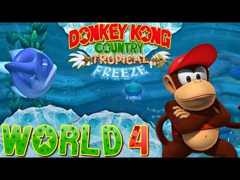 Donkey Kong Country: Tropical Freeze - World 4 (Co-op)