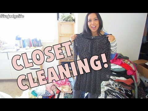 FINALLY CLEANING OUT MY CLOSET!!! - August 28, 2014 - itsjudyslife daily vlog