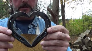 Blacksmithing - Forging A Horseshoe Heart