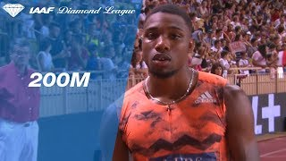 Noah Lyles 19.65 Wins Men's 200m - IAAF Diamond League Monaco 2018