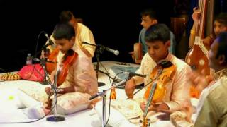 Kartigan and Ramanan Violin Arangetram - Nadaloludai Part - 1
