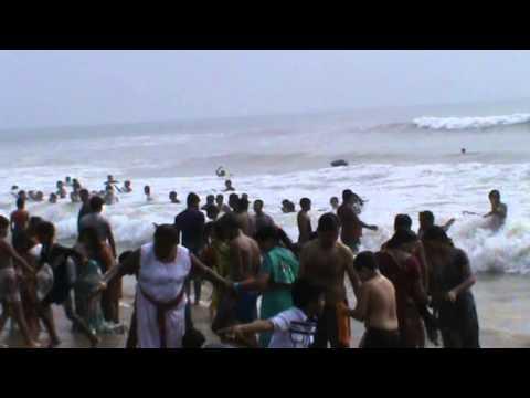 Fighting Against The Wave Of Sea Water...Puri,Odisha.