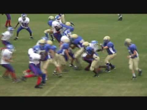 Paul Knox Middle School Football Highlights 2009 part 1