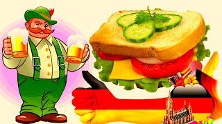 """Немецкий завтрак,  """"тосты - гавайи"""".  """"Бутерброды горячие"""""""