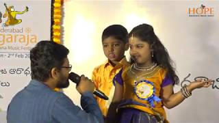 Vocal Concert by Students of Vasumati || Hyderabad Tyagaraja Aradhana Music Festival 2020 ||