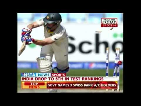 India dropped to 6th place in ICC Test rankings