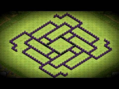 Clash Of Clans - Epic Town Hall 9 Farming Base Speed Build - 2014