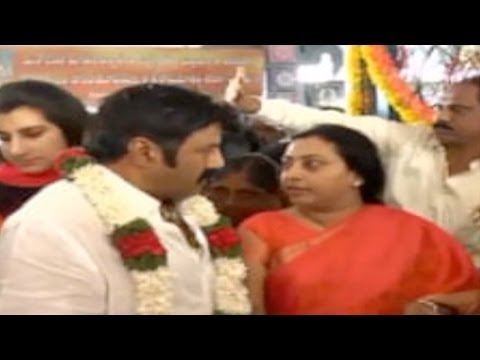 Nandamuri Balakrishna Puja Before Filing Nomination