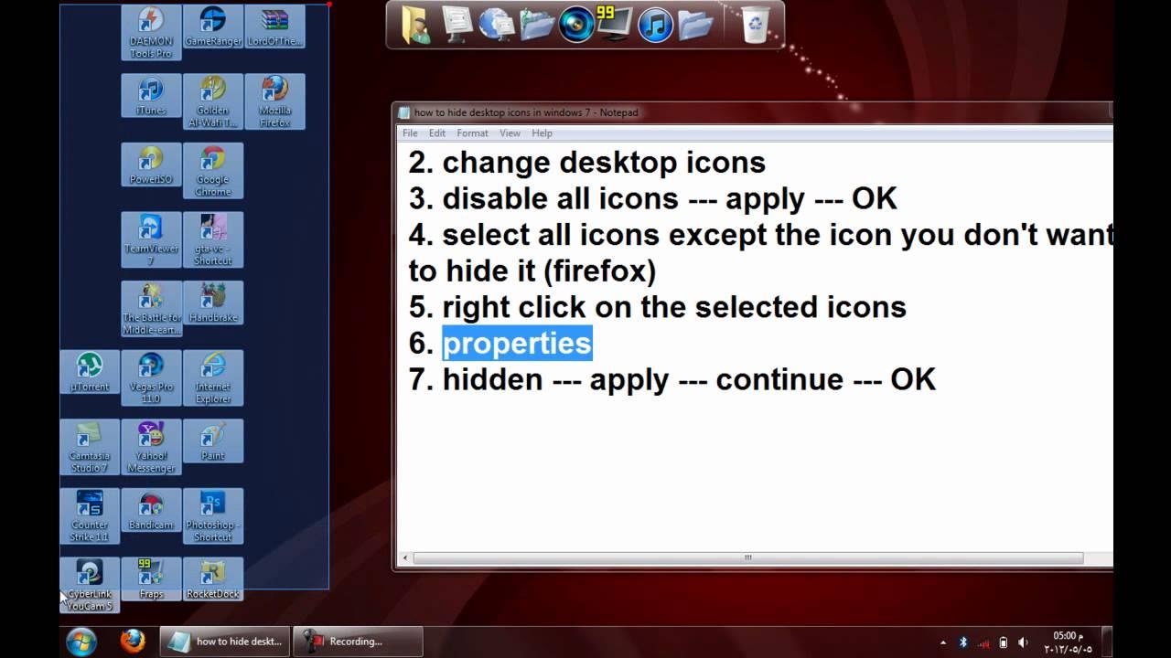 how to make certain desktop icons smaller