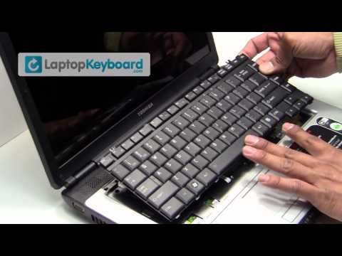 Toshiba Satellite A300 A200 Laptop Keyboard Installation Guide - Remove Install - Replacement