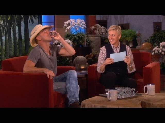 Kenny Chesney and Ellen's Drinking Game