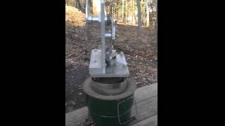 Sterling Engine on a Rocket Stove