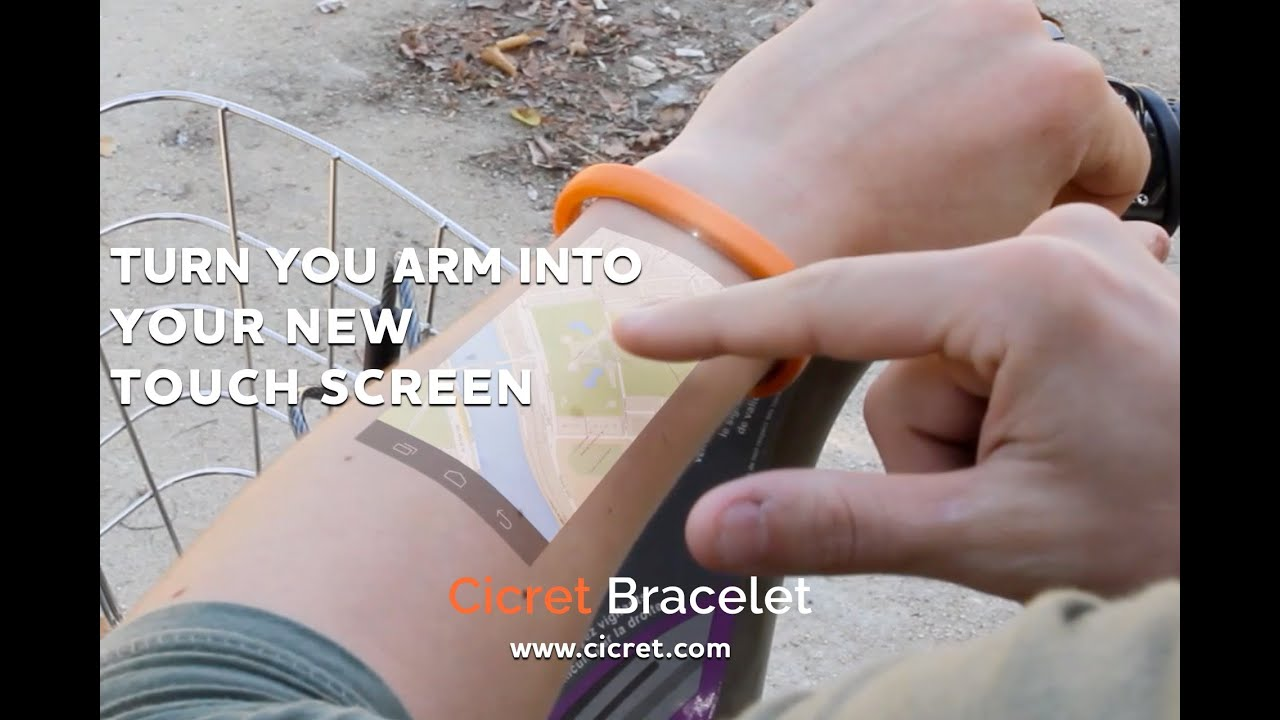 The Cicret Bracelet: Like a tablet...but on your skin