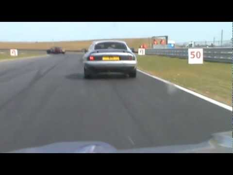 Jaguar XJS crash at Snetterton 300. 2011