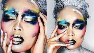 GET THE LOOK: Artistic Editorial Face Paint Inspired Makeup
