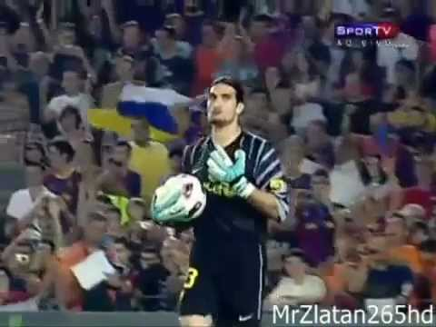 Jose Manuel Pinto Funny Goal Keeper of Barcelona.mp4