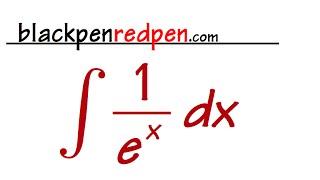 Integral of 1/e^x