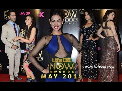 Life Ok Now Awards 2014 - Alia Bhatt, Varun Dhawan, Vidya Balan, Kaynaat Arora