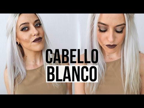 Como obtener pelo rubio platino blanco gris white hair silver hair tutorial how to - Rubio platino en casa ...
