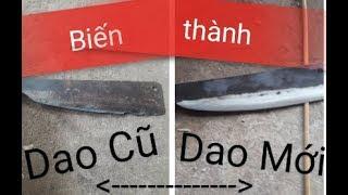 Cách Biến Dao Cũ Sứt Mẻ Thành Dao Mới Sắc Như Nước Turn the chipped old knife into a new one