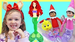 PRINCESS ARIEL joins the Elf On The Shelf for a 24 hour challenge!