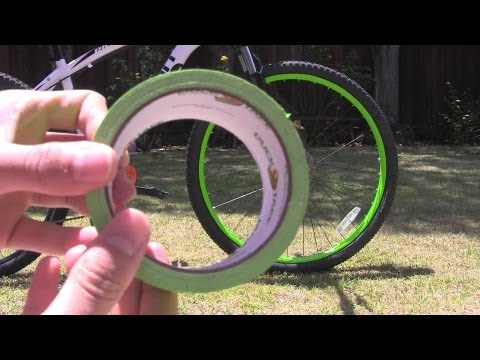 How To: Neon Bike Rims Using Duck Tape