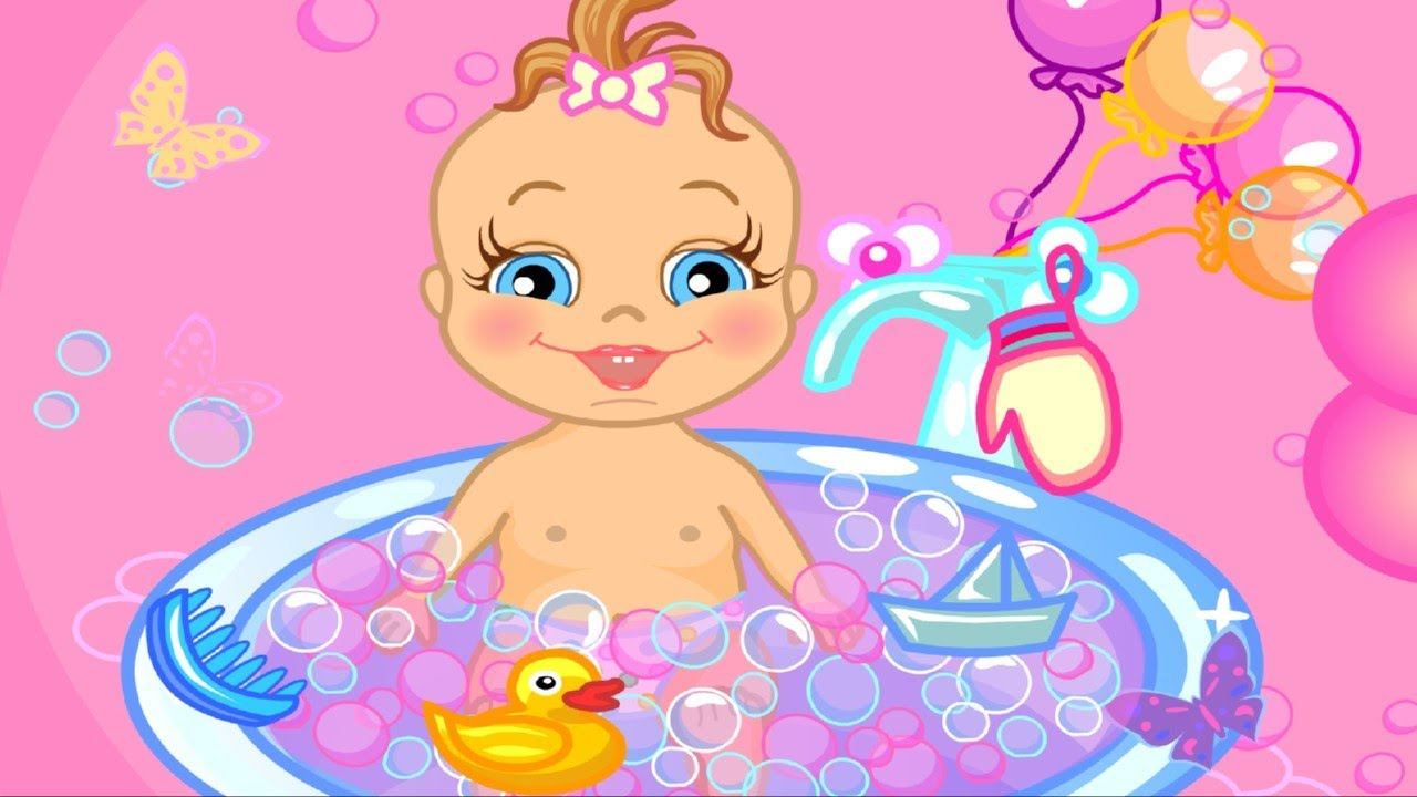 baby bathing game for little kids to play online baby bathing time to sleep youtube. Black Bedroom Furniture Sets. Home Design Ideas
