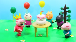 Stop Motion Peppa Pig Español at Birthday Party Play Doh [4K]