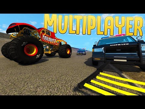 High-speed Police Chases & Stunts - BeamNG Online Multiplayer? - BeamNG Drive Gameplay