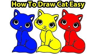 eDrawing Images How To Draw A Cute Cat Easy Painting Ideas For Kids Art Hub!!!