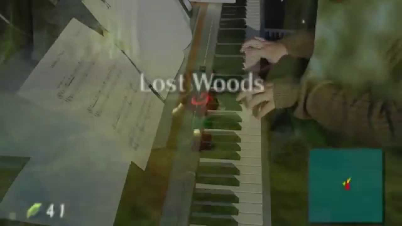how to play lost woods on piano