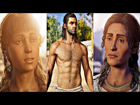 Assassin's Creed Odyssey - All Romance Scenes (All Alexios Romances)