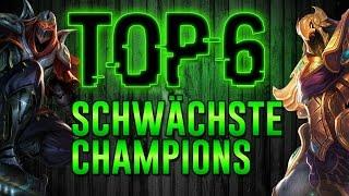 Top 6 Schwächste Champions - Champions raten! League of Legends