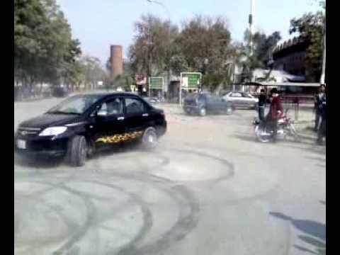 Punjab College Car DrifTing Crash