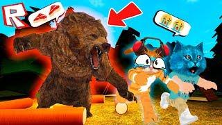 СТРАШНЫЙ ЛАГЕРЬ в РОБЛОКС! НОВЫЙ ЛАГЕРЬ ROBLOX The Campfire Котик Игроман и Котёнок Лайк