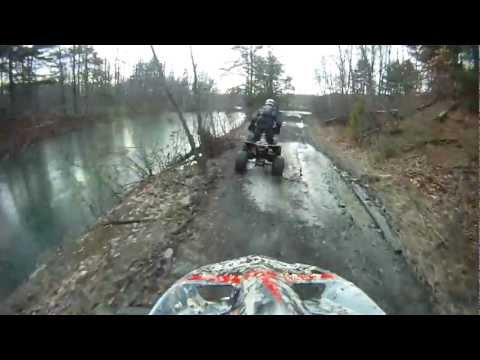 Honda 250R and 450R Trail Exploring In Trevorton Pa January 8th 2012