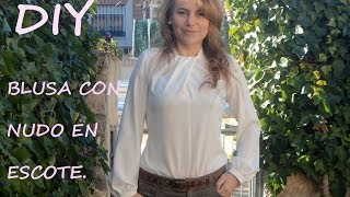 Diy Blusa con nudo en escote: Como hacer Una blusa con patronesmujer.