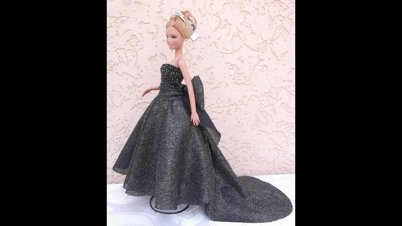 Пять нарядных платьев для Барби, шьём своими руками 43