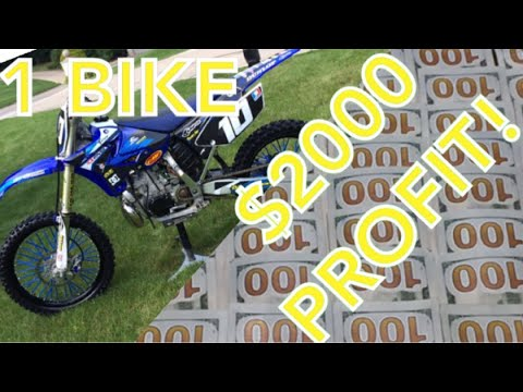 HOW I MADE $1000's PROFIT FLIPPING DIRT BIKES IN HIGHSCHOOL