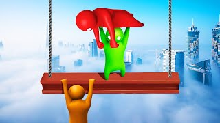 WHO WILL HANG ON THE LONGEST?! (Gang Beasts)