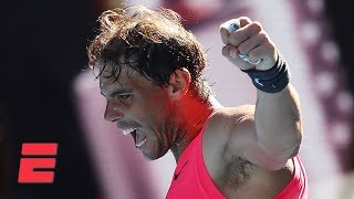 Rafael Nadal dominates Pablo Carreno Busta in straight sets | 2020 Australian Open Highlights