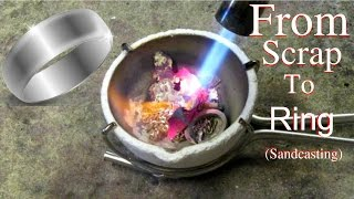 Making a silver ring (sandcasting)
