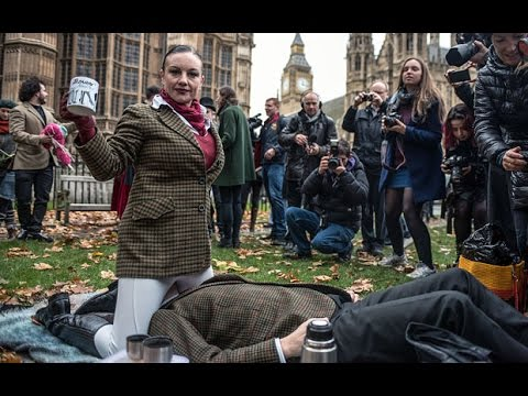 Massive Face Sit-in Against Uk Porn Ban Outside Parliament video