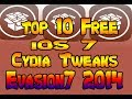 Best Top 10 FREE iOS 7 Cydia Tweaks & Apps Evasi0n7 2014 iPhone 5 (Part 1)