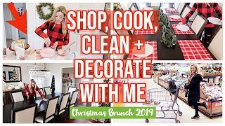 NEW SHOP, COOK, CLEAN + DECORATE WITH ME!  CHRISTMAS BRUNCH 2019 W/ ALDI | HOMEMAKING WITH BRI