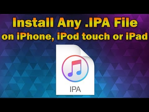 How to Install Any App IPA File on iPhone. iPod Touch or iPad (Without Jailbreak)