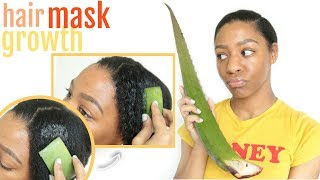 Is Aloe Vera THE BEST Hair Mask for Hair GROWTH + DRY Hair?! | T'keyah B