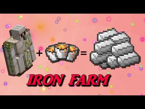 Minecraft How To Make An Automatic IRON FARM!!! #1